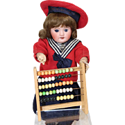 Vintage 1940s French Doll Dollhouse Mini Abacus! Great for French Ecole Schoolhouse!