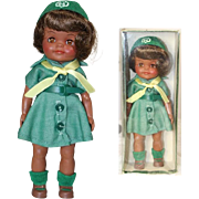 Minty! Vintage 1960s Effanbee Fluffy Girl Scout Doll in Box!