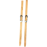 Vintage Doll Wooden Skis Marked NORGE (Norway)!