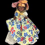 Antique French SFBJ Bisque Martinique Caribbean Black Doll w Beauty Marks!