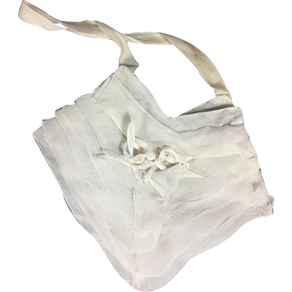 Sweet Vintage Organdy French Child or Doll 1st Communion Purse!