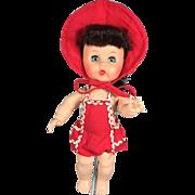 1950s Arranbee Littlest Angel Doll Red Sunsuit Swimsuit!