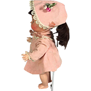 1956 Arranbee Littlest Angel Doll #583 Pink Party Coat and Hat Outfit