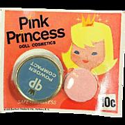 Vintage 1959 Pink Princess Doll Cosmetics Makeup Compact Powder! Old Store Stock