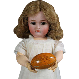 Antique Tin Litho Candy Container Doll Sized Football!