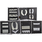 Antique Salesman Sample Lace Display Cards from Portfolio!
