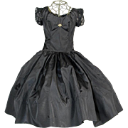1955 Mme Alexander Tagged CISSY Black Taffeta Evening Dress!