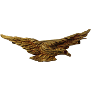 18K Gold Soaring Eagle Pin Ruby Eye 1936