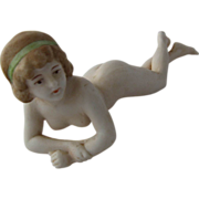 1920s Bisque Bathing Beauty Nude Woman Figurine