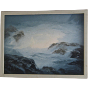 Al Need Oil Painting Mendocino California Seascape