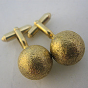 "Anson ""Orbs of Gold"" Cuff Links Gold Tone"