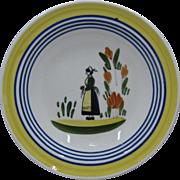 Blue Ridge Southern Potteries Lyonnaise Bowl French Peasant Woman