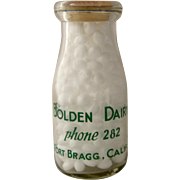 Bolden Dairy Fort Bragg Calif Bottle 1/2 Pint Screened Ca 1950s