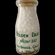 Bolden Dairy Fort Bragg Calif Bottle 1/2 Pint Screened Ca 1950s