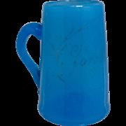 Victorian Bristol Glass Mini Tankard or Mug