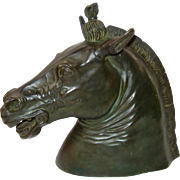 Bronze Model of the Medici Riccardi Horse Head Sculpture