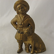 Early 1900s Buster Brown Tige Cast Iron Still Bank
