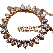 "14K Diamonds Circle Pendant Necklace .7 TCW 20"""