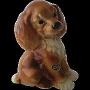 Ca 1950 Royal Copley Ceramic Spaniel Dog Figurine w/ Label