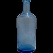 Ca 1900 Dug Bottle Rare Cornflower Sapphire True Blue Color