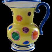 Ca 1930 Czech Ditmar Urbach Pitcher Deco HP Polka Dots 1 Liter