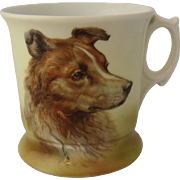 Shaving Mug w/ Collie Dog  Ca 1930s Germany