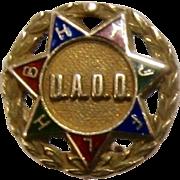 Ca 1930 UAOD Druids 10K Enamels Pin