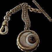 Victorian Crescent Moon & Star Fob & Watch Chain