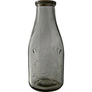 Early 1900s Fort Bragg Cal Creamery Quart Milk Bottle