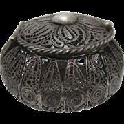 Early 1900s Mexico Silver Filigree Rosary Box