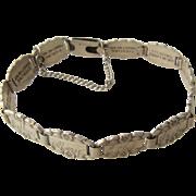 1940s Sterling Forget-Me-Not Friendship Link Bracelet