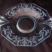 Fostoria Versailles Azure Blue Handled Lemon Plate