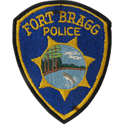 1960s-70s Fort Bragg California Police Patch