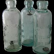 Hutchinson Soda Bottle Fort Bragg California Ca 1900