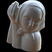 1930s Gladding McBean Peasant Girl Head Vase Dorr Bothwell