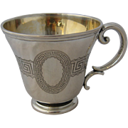 Ca 1880 German Silver Kiddush Handled Cup 13 Loth Judaica.