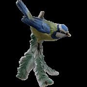 1972 Goebel Germany Porcelain Titmouse Bird Figure Figurine