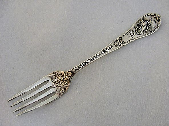 Ca 1894 Gorham Zodiac Scorpio October Sterling Youth Fork