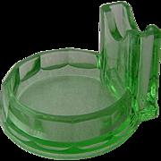 Diamond Match Green Glass Match Holder Ashtray 1921