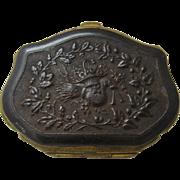 Ca 1870 Union Case Coin Purse Leather Interior Ormolu Mounts