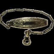 Ca 1920 Gold Fill Watch Chain w/ Belt Clip Hayward