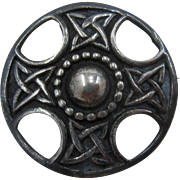 Iona Scottish Celtic Knot Sterling Shield Pin by John Hart