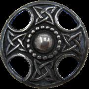 Iona Scottish Celtic Knot Sterling Shield Pin by John Hart