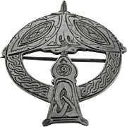 1973 Irish Celtic-Revival Annular Pin Brooch William Egan & Sons