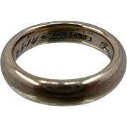 1914 Antique 14 Gold Band Rounded Ring Inscribed Sz 5 1/2