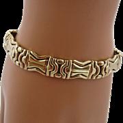 """Italian 14K Fancy Link Bracelet INRK 7 1/4"""""""