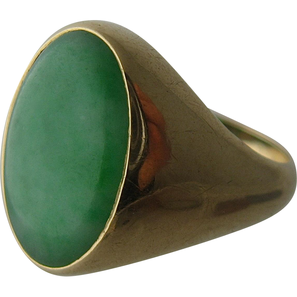 Wide Gold Ring With Big Natural Stone