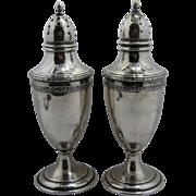 1920s Julius O. Randahl Chicago Sterling Salt & Pepper Shakers Early Mark