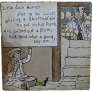 "American Encaustic Tile Little Jack Horner Nursery Rhyme 6"" Ca 1913"