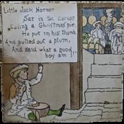 """American Encaustic Tile Little Jack Horner Nursery Rhyme 6"""" Ca 1913"""